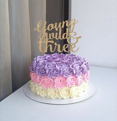 Young Wild and Three Cake Topper for Third Birthday Party by Luxe Party and Bridal