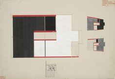 Russian Avant-Garde, El Lissitzky, Entwurf Schaukabinett Museum...