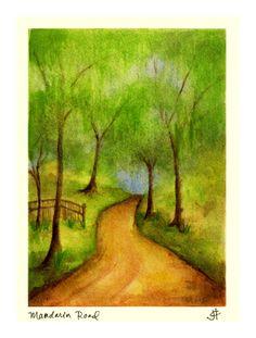 Mandarin Road, Fl, watercolour by Julie C. Fetzer. www.palmartsandphoto.com