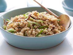 Quinoa With Shiitakes and Snow Peas #myplate #veggies #grains