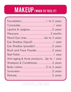 When to toss makeup this should be helpful