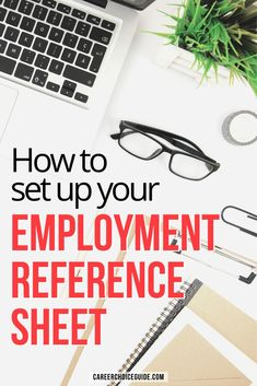 How to set up your employment reference sheet so it's professionally designed to match your resume. #resumes #jobsearch #careerchoiceguide