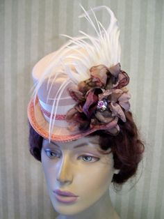 Victorian Mini Riding Hat Steampunk Hat Kentucky Derby by MsPurdy