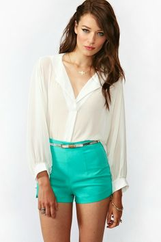 Mint And White Color Is So Soft And Cool Color For Summer Outfits And This Outfit Is So Simple And Cute