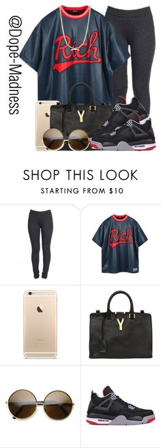 """""""Anons be copying my sets"""" by urban-stylefashion ❤ liked on Polyvore featuring Joyrich, Yves Saint Laurent, ZeroUV and NIKE"""