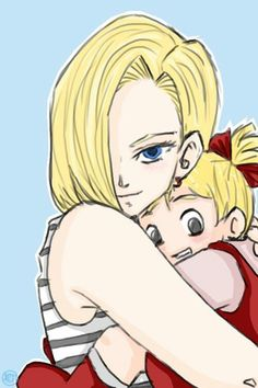 Android 18 and Marron Android 18 And Krillin, Krillin And 18, Dragon Ball Z, Manga Dragon, Dbz Androids, Fan Art, Female Character Design, Neon Genesis Evangelion, Anime Manga