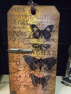 Tim Holtz Stamps - Papillon Set. Whether you use the Rubber Stamp set or the die for a dimensional look, you can find them both in our store!