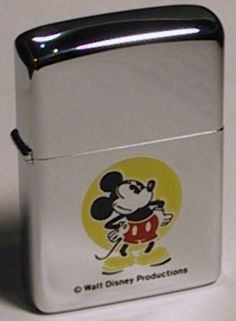 Disney Zippo even though I don't smoke, this would be cool to have just on display