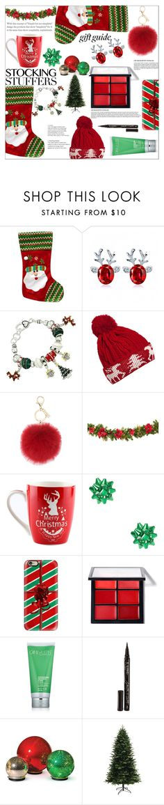"""stocking stuffers"" by peta-5 ❤ liked on Polyvore featuring WithChic, L.K.Bennett, Casetify, Cane + Austin, Smith & Cult and Improvements"