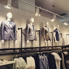 Torsos displaying smart casual looks, part of a Trend area at New Look Men Southampton #VisualMerchandising #Menswear #NewLookMen