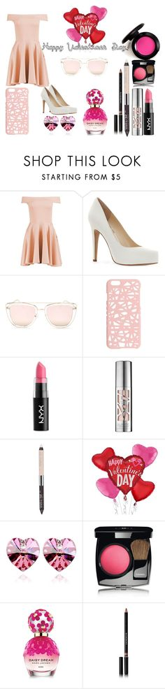 """""""Happy (late) Valentines Day!"""" by grim-boney ❤ liked on Polyvore featuring Boohoo, Jessica Simpson, Quay, Miss Selfridge, NYX, Urban Decay, Chanel, Marc Jacobs and Givenchy"""