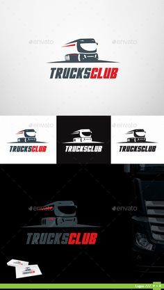 Trucks Club Logo — Vector EPS #vector logo #club • Available here → https://graphicriver.net/item/trucks-club-logo/13065247?ref=pxcr