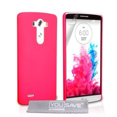 YouSave LG G3 Hard Hybrid Case - Hot Pink   Mobile Madhouse