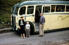 1956 approx: Dodds' of Troon Luxury Coach, Wester Ross, Scotland - 2