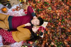Autumn inspired engagement Photo By Hilary Cam Photography
