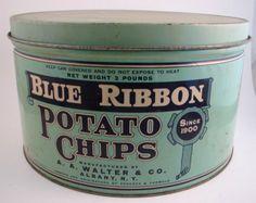 Blue Ribbon Potato Chips.