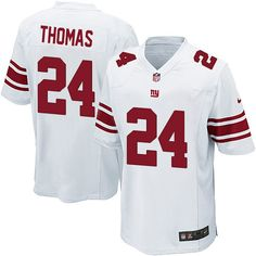 Terrell Thomas White Jersey #24 Limited Youth NIKE New York Giants NFL Jersey Sale