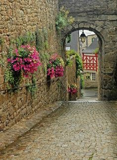 Ancient Passage, Brittany, France.