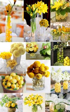 lemon yellow weddings | Tulip Centrepieces Limes Yellow Wedding Centerpieces Pictures