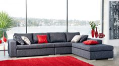 Axel Corner Lounge Suite with Chaise Harvey Norman  1620 x 900 x 83 and chase 1400x900x63