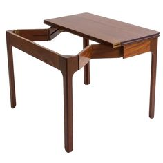 Foldable Kaare Klint Gaming table | From a unique collection of antique and modern card tables and tea tables at https://www.1stdibs.com/furniture/tables/card-tables-tea-tables/