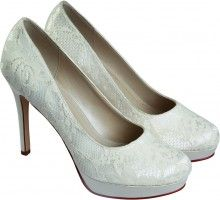 Wedding Products - Rainbow Club Ella Dyeable Lace Bridal Shoes $90. This website will dye your shoes whatever colour you want, for FREE!!!! Visit http://www.perditasweddingshoes.co.uk/   -C C