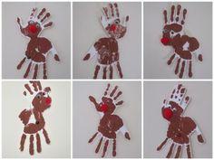 Rendieren van handjes super leuk voor kerst, of in de boom