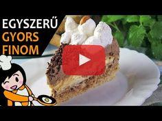 Kinder bueno torta - Recept Videók - YouTube Molten Chocolate, Chocolate Cream, Choco Fresh Torte, Make Your Own Cookbook, Complete Recipe, Hungarian Recipes, Cookies And Cream, Food Videos, Recipe Videos