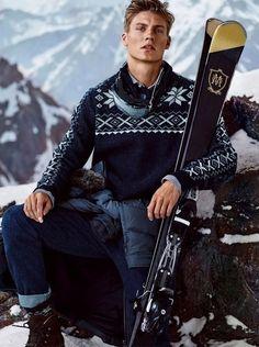 Mikkel Jensen for Massimo Dutti Après Ski 2015 Campaign