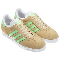 Tan/Green Gazelle shoes - Adidas