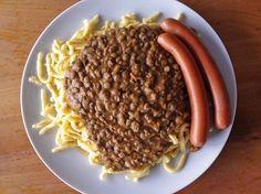 Schwäbische Linsen mit Spätzle und Saitenwürstchen (Rezept mit Bild)   Chefkoch.de