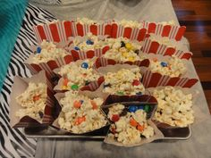 White Chocolate Covered Popcorn with M