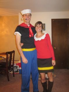 popeye and olive oil costumes pinterest kost m. Black Bedroom Furniture Sets. Home Design Ideas