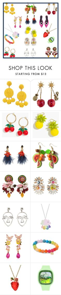 """""""novelty bling"""" by cassandra-beauchamp on Polyvore featuring Humble Chic, Gucci, J.Crew, Lizzie Fortunato, Dolce&Gabbana, Bijoux de Famille, MANGO, Anabela Chan, Sydney Evan and Betsey Johnson"""