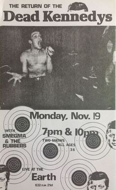 Jello Biafra drumming in a punk band, 1979 Rock Band Posters, Love Posters, Concert Flyer, Concert Posters, Punk Poster, Gig Poster, Jello Biafra, Dead Kennedys, Into The Fire