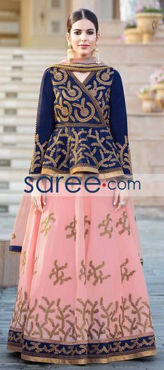PINK BANGALORE SILK LEHENGA CHOLI WITH EMBROIDERY WORK #LehengaCholi #GeorgetteLehenga #IndianOutifit #IndianLehenga #WeddingLehengaCholi #ReceptionLehengaCholi