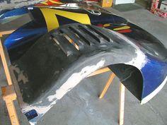 Bond carbon fiber and fiberglass together. Use it for custom car body