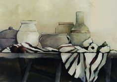 """Nature morte en blanc""-Bénédicte Garnier-Fihey-Oil on canvas"