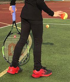208f2813708d13 Girls Black Long Tennis Leggings Ball Pocket Zoe Alexander UK ZA