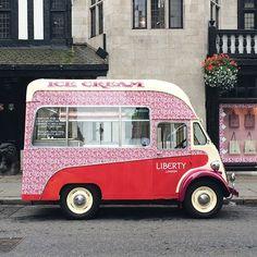 #flowersofliberty #london @libertys #summer #icecreamvan - Thanks to @eggboxlondon! #libertygardenparty