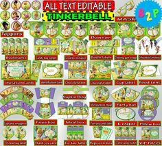 Editable Birthday Package TINKERBELL by BirthdayPartyStudio