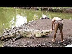 Costa Rica Chito  The Crocodile Man and the famous Crocodile Poncho