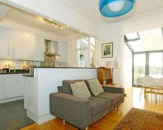 photo of open plan white dining room family room kitchen living room lounge and furniture sofa Eyebrow Makeup Tips Living Room Lounge, Small Kitchen Diner, Livingroom Layout, White Dining Room, Open Plan Kitchen Living Room, Small Open Plan Kitchens, Open Plan Living Room, Dining Room Combo, Kitchen Diner Lounge