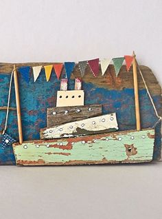 fishing boat accessories gifts – Famous Last Words Boat Crafts, Summer Crafts, Diy And Crafts, Kids Crafts, Driftwood Projects, Driftwood Art, Fishing Boats, Ice Fishing, Fishing Tackle