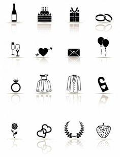 Icon Set, Wedding