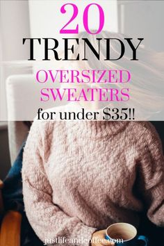 20 Must-Have Oversized Sweaters From Amazon - Under $35! - Just Life And Coffee Fall Winter Outfits, Autumn Winter Fashion, Fall Fashion, Fashion Trends, Join Fashion, Latest Fashion, Patterns Of Fashion, Beach Ready, Colorful Fashion