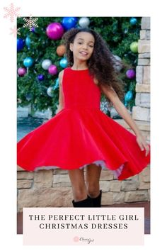 Twirl into this holiday season with this adorable red festive dress! Girls Party Dress, Dresses For Teens, Little Girl Dresses, Girls Dresses, Christmas Dress For Teens, Girls Christmas Outfits, Feminine Dress, Classy Dress, Girls Special Occasion Dresses