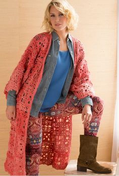 Rockin' Lacy Duster Jacket Crochet Pattern and other FREE CROCHETED JACKET PATTERNS