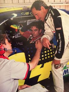 """""""Dale Earnhardt, and chat in the garage during the 1996 Winston Cup season. Dale Earnhardt Chevrolet, Dale Earnhardt Jr, Nhra Racing, Auto Racing, Jeff Gordon Nascar, The Intimidator, Nascar Cars, Old Race Cars, Vintage Race Car"""