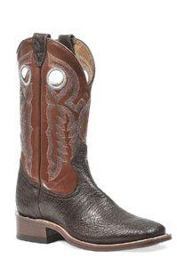 Shiny Seahorse Square Toe Boots